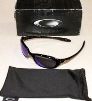 Oakley Xs Fives Polished Black W/ Blue Iridium Lens Sunglasses
