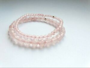 Rose quartz customize natural gemstone cute beads chakra healing bracelet gift