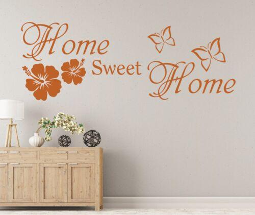 Wandtattoo Spruch Home sweet Home Zuhause Wandsticker Sticker Wandaufkleber 8