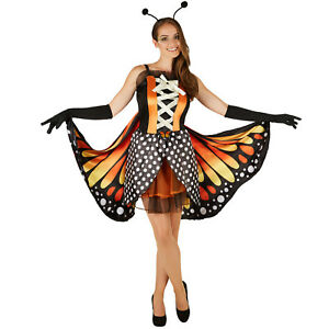frauenkost m schmetterling feuerfalter kost m frauen karneval fasching halloween ebay. Black Bedroom Furniture Sets. Home Design Ideas