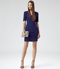 New REISS Hailie Cobalt Blue Fitted Sheath Cocktail Party Dress Size 10 BNWT