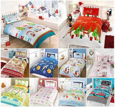 Kids Childrens Boys Girls Single Duvet Cover Quilt Cover Set With Pillow Case