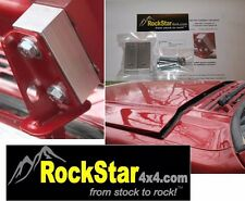 """1/"""" Original fits Jeep Cherokee hood spacer kit XJ lift louver RED SOLID ALUMINUM"""
