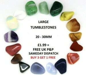Healing-Crystals-Large-Tumblestones-Semi-Precious-Polished-Reiki-Gem-20-30mm-x1