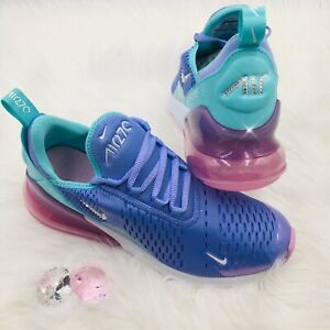 alta moda especial para zapato vende Details about Bling Nike Air Max 270 Women Girls Shoes w Swarovski Crystals  Purple & Turquoise