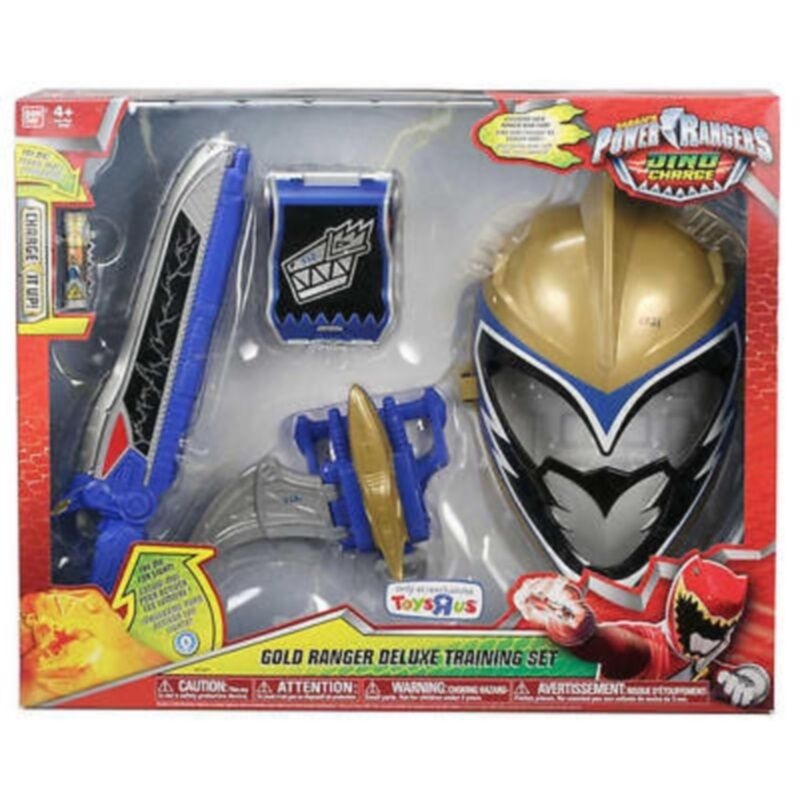 Power Rangers Dino Charge Deluxe Deluxe Deluxe Training Set Gold Mask, Ptera Morpher Saber Com d94a47