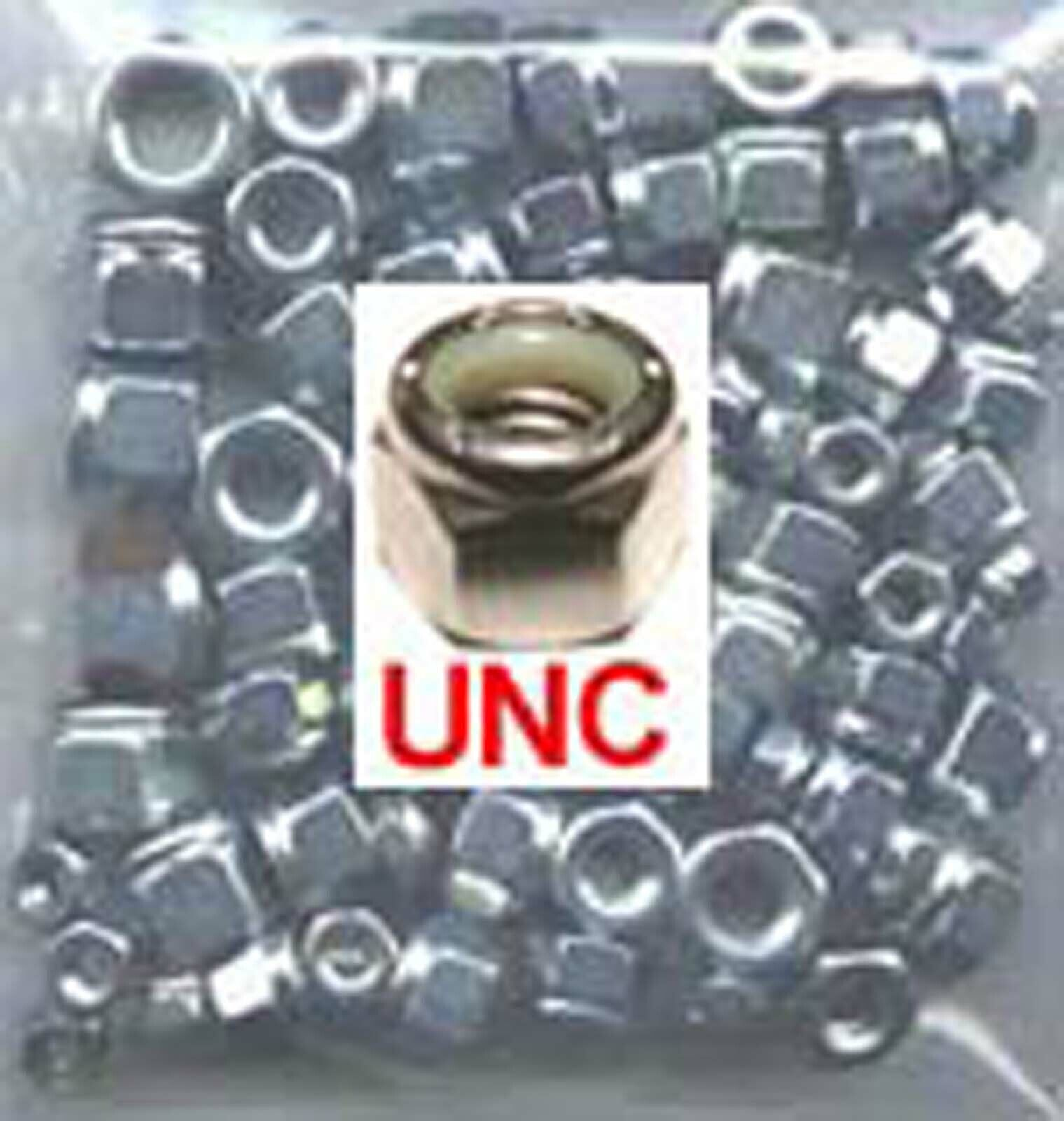 Stainless UNC Nyloc Nuts - 1/4, 5/16, 3/8 UNC Nylock Nuts - mixed pack x50