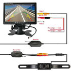 """7"""" TFT LCD Car Rear View Monitor+Wireless Parking Night Vision Backup Camera Kit"""
