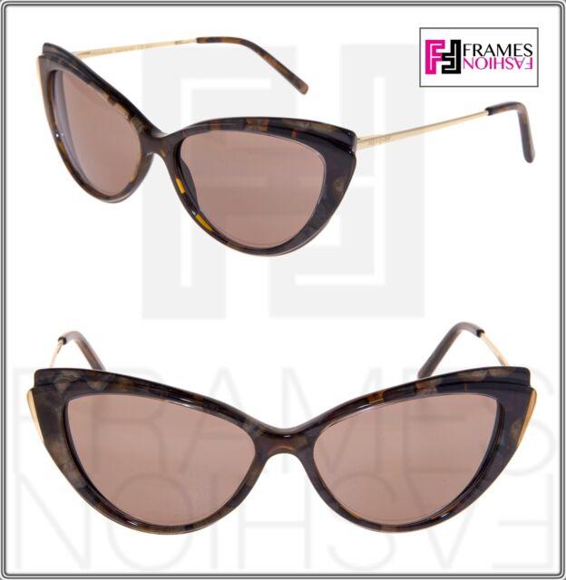 Gold 6346 Brown Marble Eye Pearl Yves Ysl6346 Saint Laurent Cat Sunglasses Ysl shrdtQ