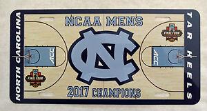 2017-NCAA-Champion-North-Carolina-Tar-Heels-High-Gloss-License-Plate