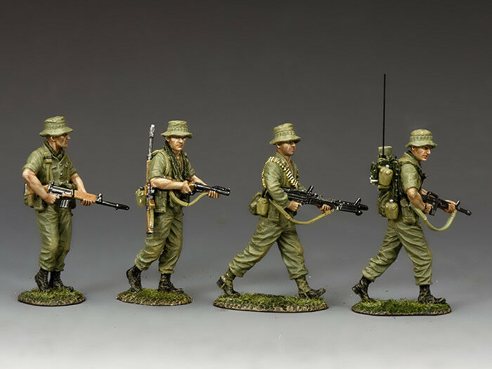 King and Country VN030 Australian Patrol Section 1 30 Scale Metal Toy Soldiers