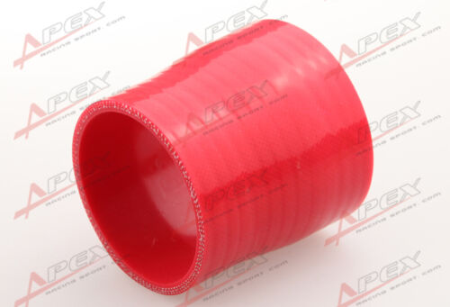 "3Ply 2.5/"" To 1.75/'/' Inch Straight Reducer 76.2mm Silicone Hose Coupler Pipe Red"