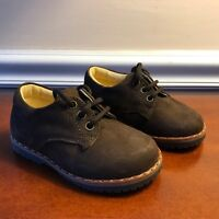 Boys .brown Brushed Leather Lace Tie Up Brown Shoes Size Us 4 1/2 / Eur 20