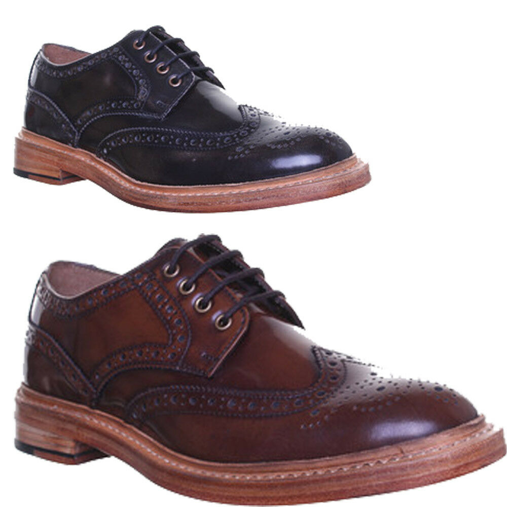 Justin Reece Dylan Good Year Welted Mens Lace up Brogues Shine Leather Sole