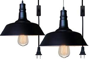 Details About Fadimikoo Plug In Pendant Light E26 E27 Hanging Lights