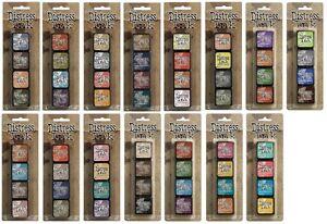 Tim-Holtz-Ranger-Mini-Distress-Ink-Pad-Kits-amp-Storage-Tin-All-kits-from-1-15