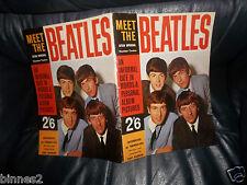 "ORIGINAL-1963- 2/6 !  ""MEET THE BEATLES "" Tony Barrow Special ! FAB MAGAZINE"