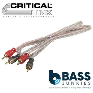 0.5M Gold Plated Rca Connectors Shielded High Flex Transparent Pvc Phono Cable