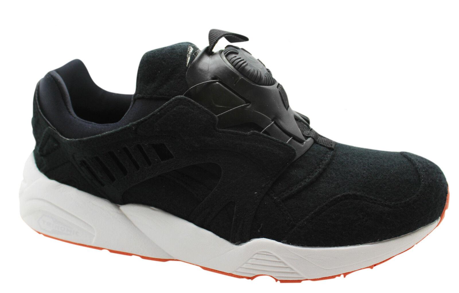 Puma Trinomic Disc Blaze Black Felt Mens Trainers Slip On Shoes 359361 02 D8