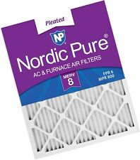 Nordic Pure 21x21x1 Exact MERV 8 Pure Carbon Pleated Odor Reduction AC Furnace Air Filters 3 Pack