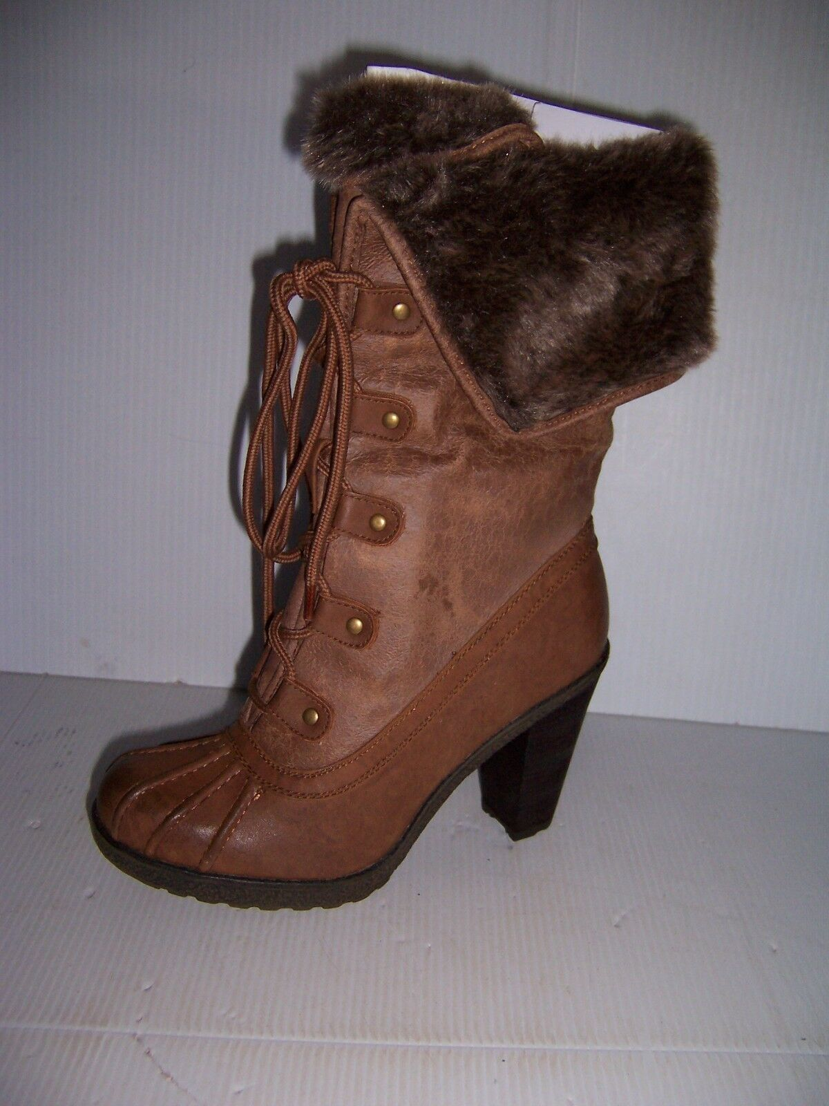 CALL IT SPRING COGNAC MARredTE WOMAN'S BROWN HIGH HEEL  BOOTS  SIZE 7 NEW