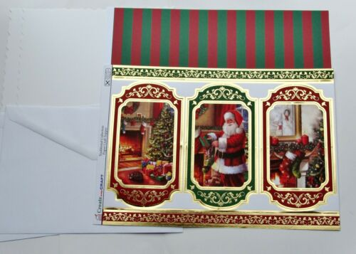 Kanban Christmas Card Making Kit Toppers Decoupage Cards Envs Backing Paper