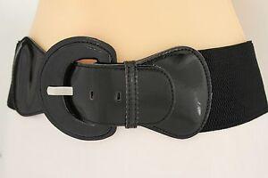 Collectif Patent Black PU Faux Leather Thin Slim Vintage Style Belt /'Martha/'