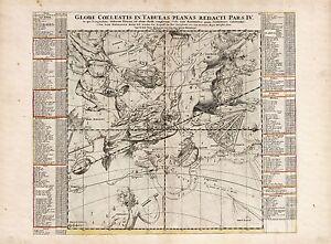 Old-Vintage-Decorative-Stars-map-Hydra-Virgo-Leo-Libra-Doppelmayr-ca-1742
