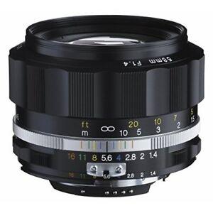 2016-NEW-Voigtlander-NOKTON-58mm-F1-4-SL-II-S-for-Nikon-F-Black-rim-Japan