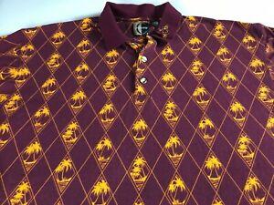 Arizona-State-Polo-Shirt-Mens-XL-2XL-Chiliwear-All-Over-Design-Sun-Devils-Alumni