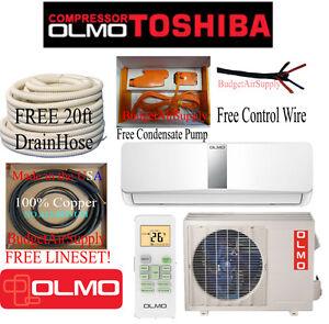 Olmo Toshiba Compressor 12k Btu Ductless15 Seer Mini Split