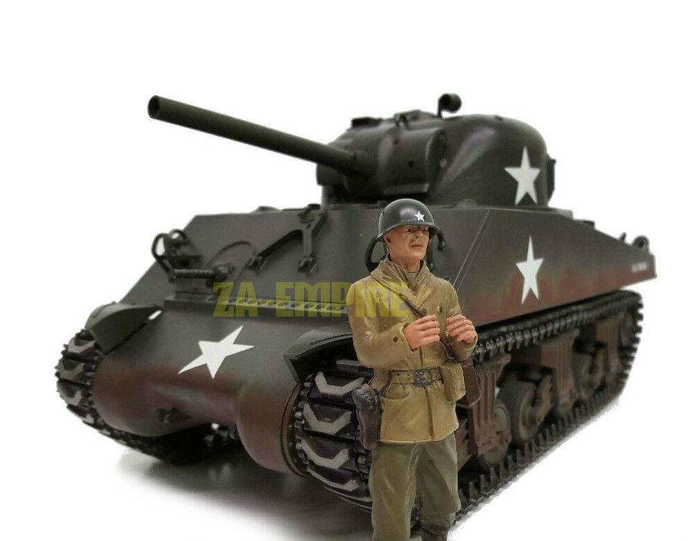 Escala 1 16 Torro Commander A. Ross Tanque tripulación U.S. figura tanque RC Segunda Guerra Mundial