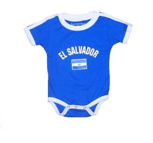 El Salvador World Cup Baby Bodysuit Soccer Football Jersey T-shirt Flag Cotton