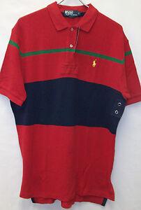 e9cede644d2 Polo Ralph Lauren Knit Cotton Mesh SS Striped Rugby Shirt $89 Pony ...