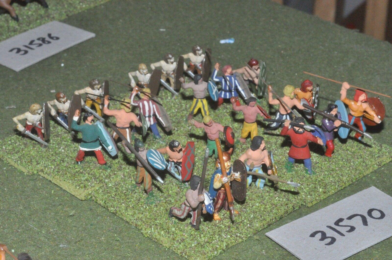 25mm roman era   barbarian - warband 24 figures - inf (31570)