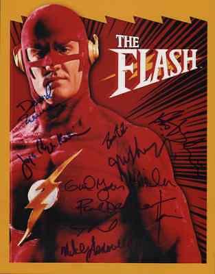 "THE FLASH (1990) Cast(x10) Authentic Hand-Signed ""John Wesley Shipp"" 11X14 Photo"