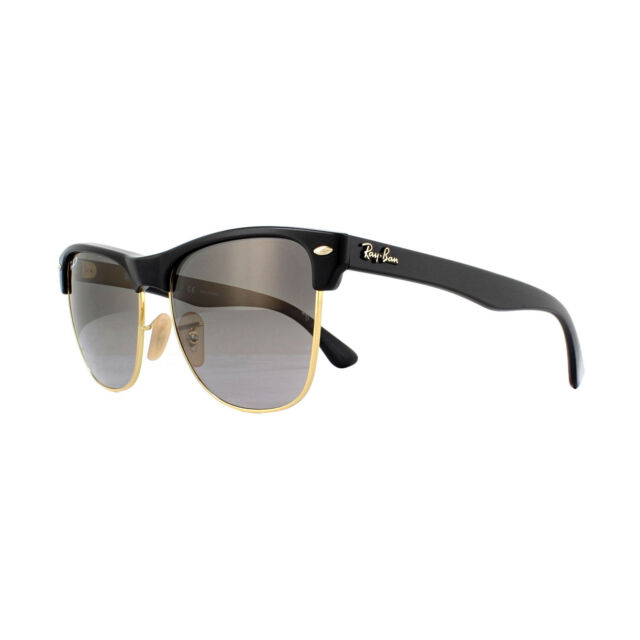 91950a32db0 Ray-Ban Sunglasses Clubmaster Oversized 4175 877 M3 Black Grey Shaded  Polarized