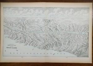 Vintage-1900-HOLY-LAND-Atlas-Map-22-034-x14-034-Old-Antique-BETHLEHEM-JERUSALEM-SIDON