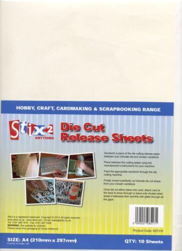 10 A4 DIE CUT RELEASE SHEETS CRAFT FOR CUTTING MACHINE SCRAPBOOKING STIX2 S57316