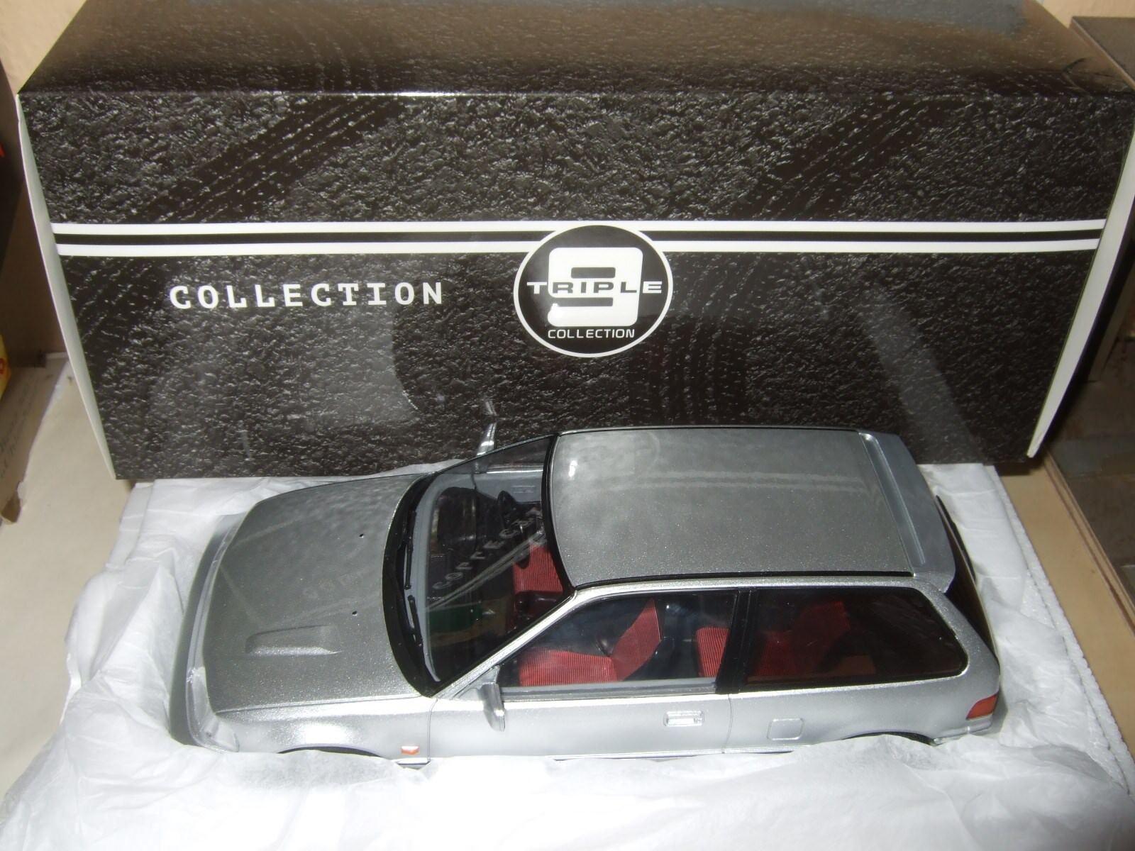 Honda Civic ef-3 si argent 1987 de Triple 9 1 18 NOUVEAU & NEUF dans sa boîte