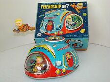 "FLYING SAUCER ""FRIENDSHIP # 7 M-T co. JAPAN 60s w/ Orig. Box***SEE IT ON VIDEO**"