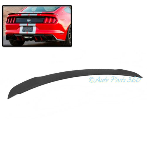15-17 FORD MUSTANG MATTE BLACK PAINTABLE REAR TAIL TRUNK TOP ABS SPOILER LIP NEW