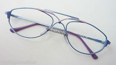 Brillenfassung Extravagantes Design Brillengestell Blaulila Tropfenform Grösse L