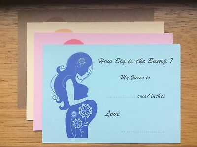 How Big is Mummy/'s Tummy Baby Shower Game Boy Girl Neutral 12 Pack FREE P/&P  A29