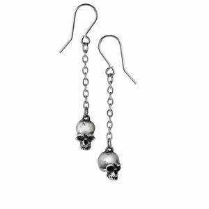 Alchemy-Gothic-Deadskull-Jawless-Skull-Pewter-Chain-Drop-Earrings