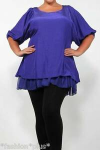 Plus-size-top-tunic-purple-black-NWT-20-22-24
