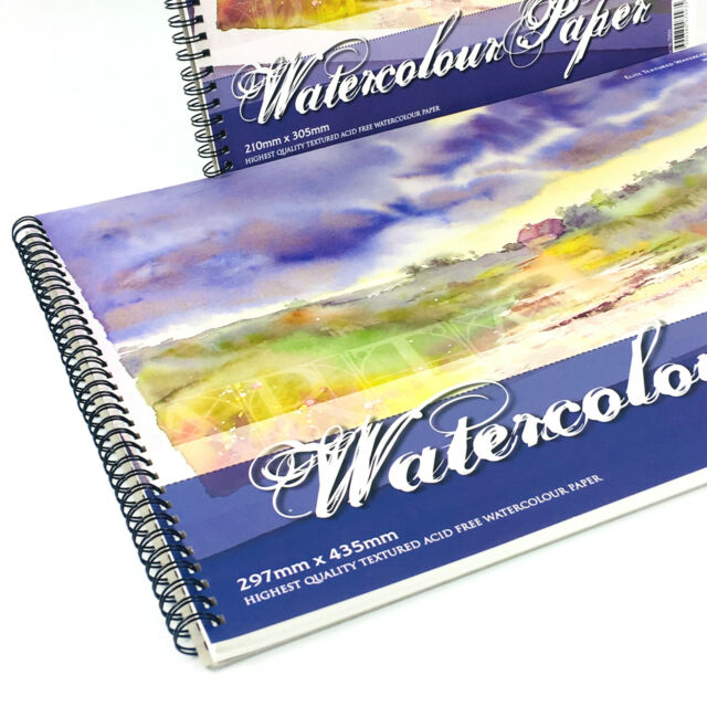 Spiral Bound 250gsm 30 Sheets West Design A3 Mixed Media Paper Artist Pad