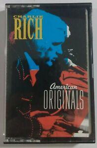 Charlie Rich American Originals Cassette Tape 1989 CBS Records