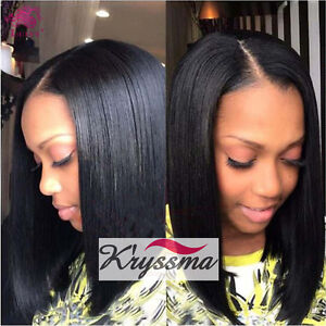Short Bob Lace Front Wig Straight Brazilian Remy Human Hair Wigs For