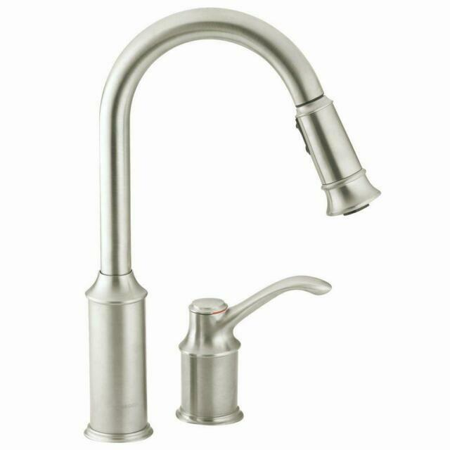 Moen 7590csl Aberdeen Pull Down Kitchen Faucet For Sale Online Ebay